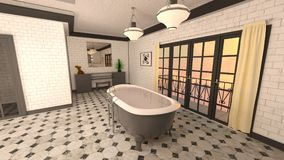 Bathroom. 3D CG rendering of the fancy bathroom Royalty Free Stock Image
