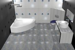Bathroom. 3D-Rendering of an bathroom Stock Photo