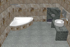 Bathroom. 3D-Rendering of an bathroom vector illustration