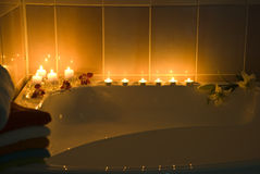 Bathroom in darkness stock photography