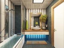 Bathroom decor. Bathroom design 3d rendering by sedat seven Stock Images