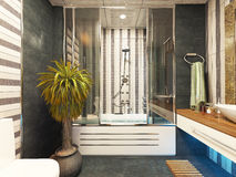 Bathroom decor. Bathroom design 3d rendering by sedat seven Royalty Free Stock Photos