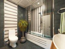 Bathroom decor design rendering. Bathroom decor design 3d rendering Stock Image