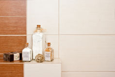Bathroom decorations Royalty Free Stock Images