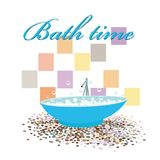 Bath time design original interior Royalty Free Stock Images