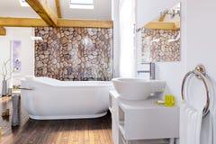 Cottage Bathroom Designed Area. Cottage Bathroom Design - 3d visualization stock photography