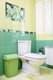 Bathroom design in green colors with wc Royalty Free Stock Photos