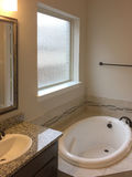 Bathroom design in a nice new house stock photo
