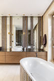 Bathroom designed with elegance Stock Image