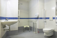 Bathroom detail for handicapped people Royalty Free Stock Photos