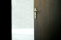 Bathroom Door Royalty Free Stock Photo