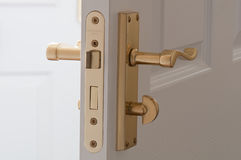 Bathroom Door Furniture Stock Photo