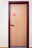 Bathroom door. Public bathroom door with sign for women royalty free stock image