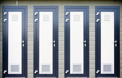 Bathroom doors Royalty Free Stock Photos