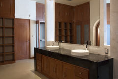Bathroom dresser. Dresser in a modern bathroom Royalty Free Stock Image