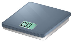 A bathroom electronic scale Royalty Free Stock Image