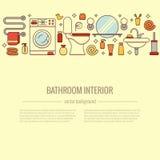 BATHROOM-END巴恩设备五颜六色的概念 图库摄影