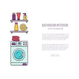 BATHROOM-END巴恩设备五颜六色的概念 库存照片