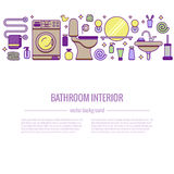 BATHROOM-END巴恩设备五颜六色的概念 库存图片