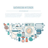 BATHROOM-END Image libre de droits