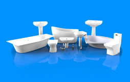 Bathroom equipment Royalty Free Stock Images