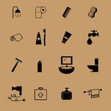 Bathroom equipment flat icon Stock Image