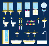 Bathroom equipment set Stock Image
