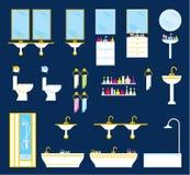 Bathroom equipment set Stock Image