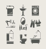 Bathroom equipment set icon Royalty Free Stock Photo