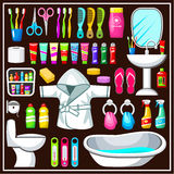 Bathroom equipment set. Royalty Free Stock Photos
