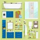 Bathroom equipment vector icons Stock Photo