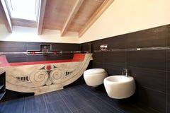 Bathroom with ethnic bath Royalty Free Stock Photo