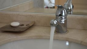 Bathroom Faucet stock video footage