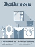 Bathroom flat interior decor infographic Royalty Free Stock Images