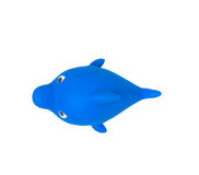 Bathroom Floating Toy Shark isolated on white, no shadow. with clipping path Royalty Free Stock Images