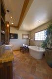 Bathroom With Freestanding Bathtub Stock Image