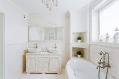 Bathroom in the french style Stock Images