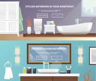 Bathroom Furniture Banner Royalty Free Stock Image