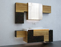 Bathroom furniture. Design bathroom furniture suitable for advertising Stock Image