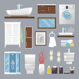 Bathroom Furniture Flat Royalty Free Stock Photos