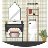 Bathroom with furniture Flat Style Royalty Free Stock Photos