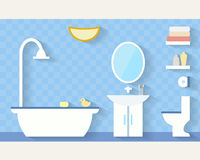 Bathroom with furniture Stock Photos