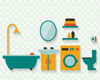 Bathroom with furniture Royalty Free Stock Photo