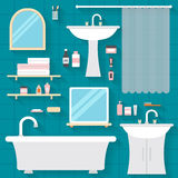 Bathroom with furniture Stock Images