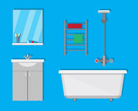 Bathroom with furniture Royalty Free Stock Photos