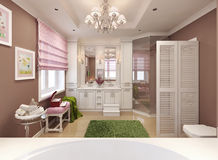 Bathroom for girls in classic style Stock Image