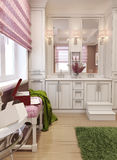 Bathroom for girls in classic style Stock Images