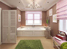 Bathroom for girls in classic style Royalty Free Stock Photos