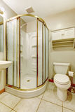 Bathroom with glass door shower Royalty Free Stock Photos
