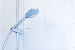 Bathroom hand shower with water stream Stock Photography